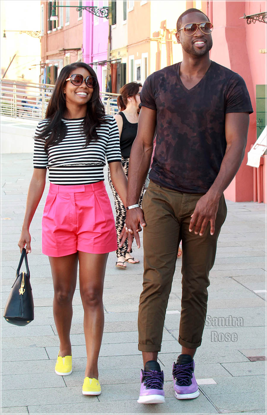 Dwyane Wade and Gabrielle Union visit Burano Island in Venice, Italy