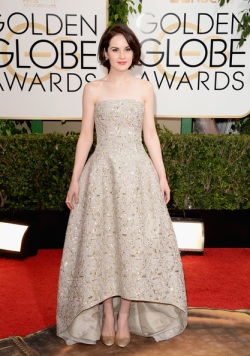Michelle Dockery 71st+Annual+Golden+Globe+Awards+Arrivals+qMKy2N2J8WKl