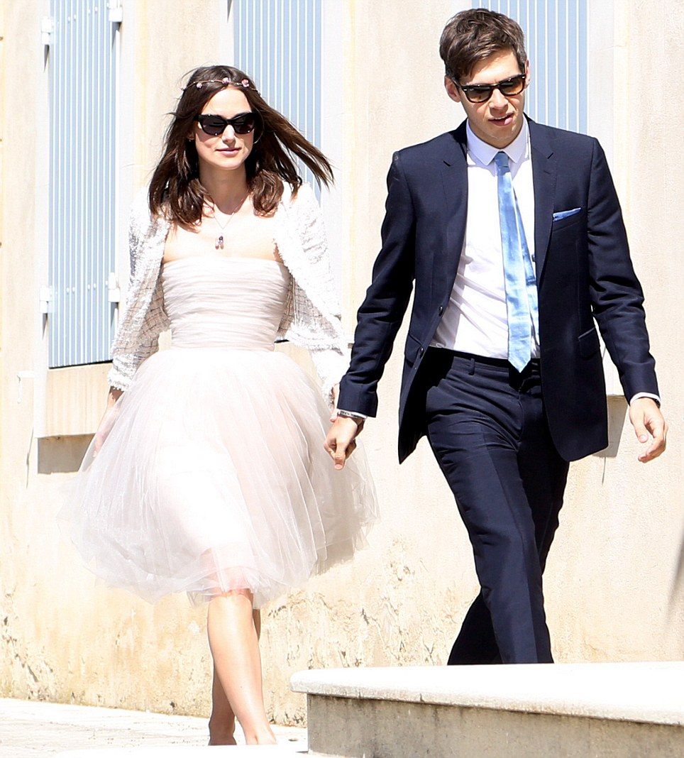 Keira Knightley and James Righton arriving at the Mazan Town