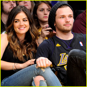 lucy-hale-lakers-game-joel-crouse