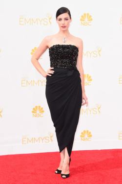 Jessica Pare Arrivals+66th+Annual+Primetime+Emmy+Awards+UOux94lSn_Tl