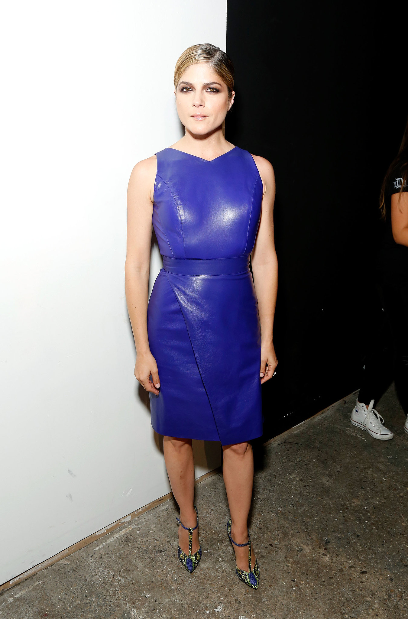 Selma-Blair-sported-sexy-leather-dress-Christian-Siriano