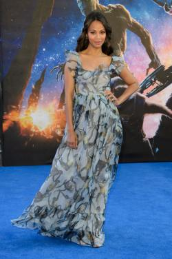 Zoe Saldana - 20140724 - 'Guardians of the Galaxy' UK Premiere - 001