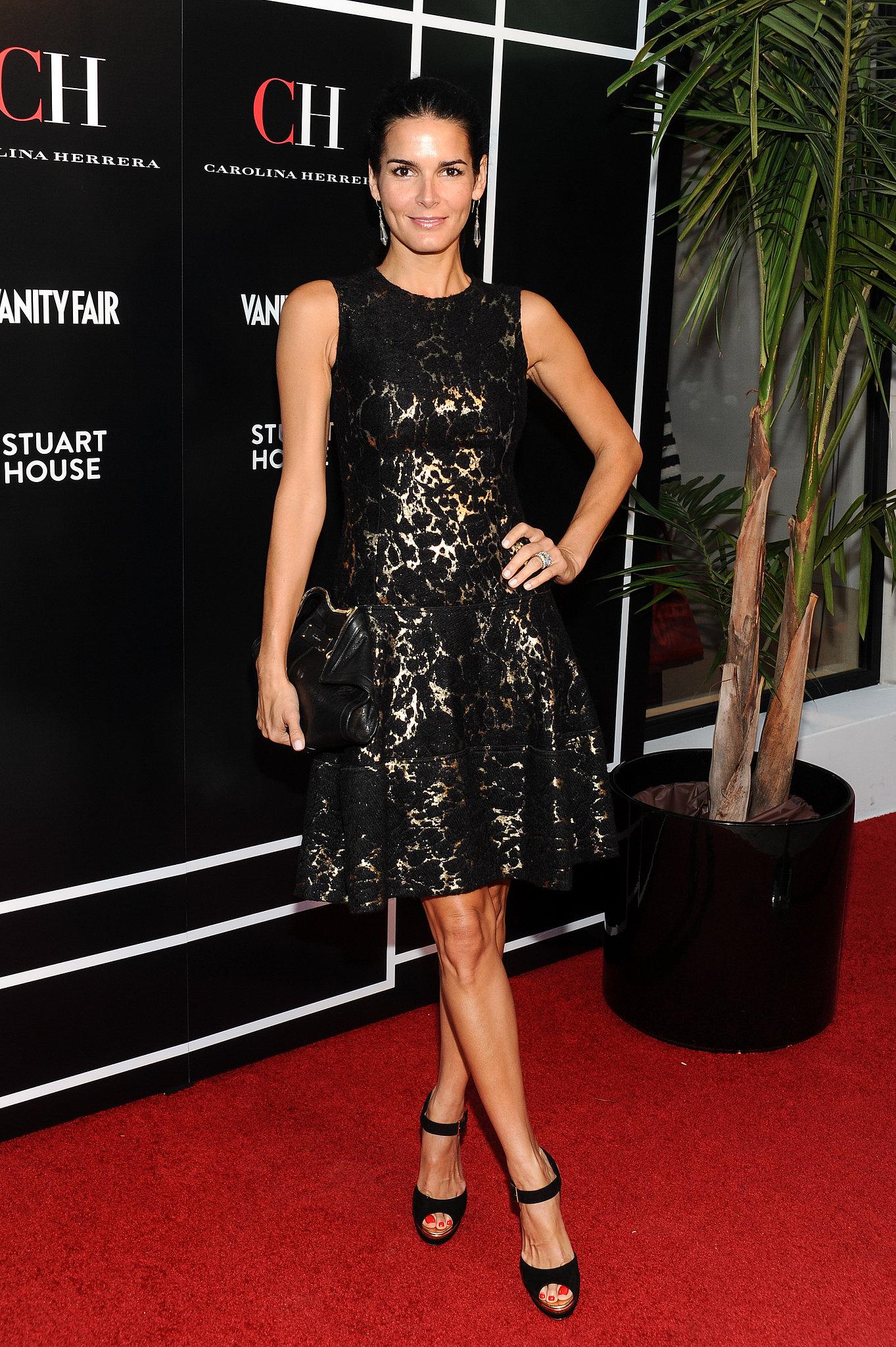 Angie-Harmon-wore-black-lace-dress-LA