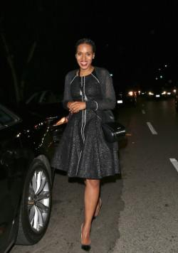 Kerry-Washington-was-spied-in-a-chic-fit-and-flare-black-dress-with-shimmering-sheer-details-491x700