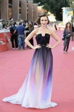 Lily Collins ('Love, Rosie' Premiere during the 9th Rome Film Festival)