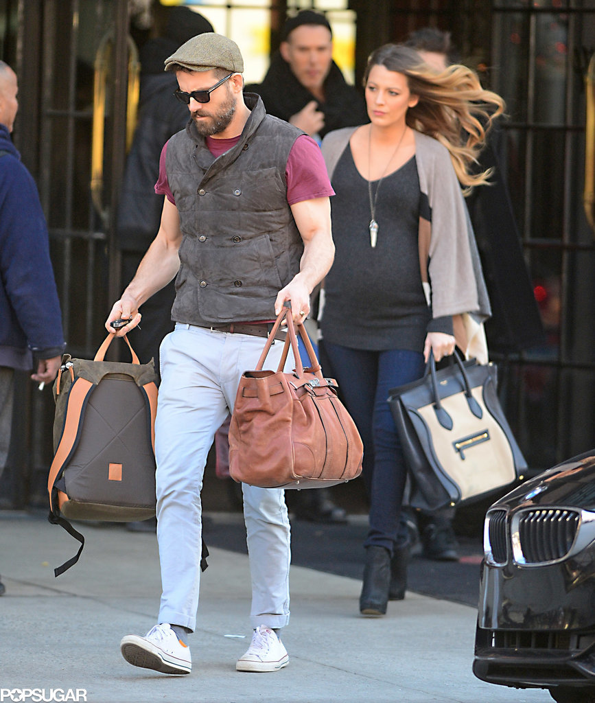 Pregnant-Blake-Lively-Ryan-Reynolds-NYC-Photos