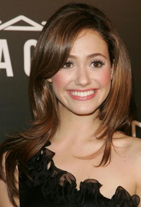 Emmy-Rossum-Long-Hairstyle-Sleek-Brown-Hair