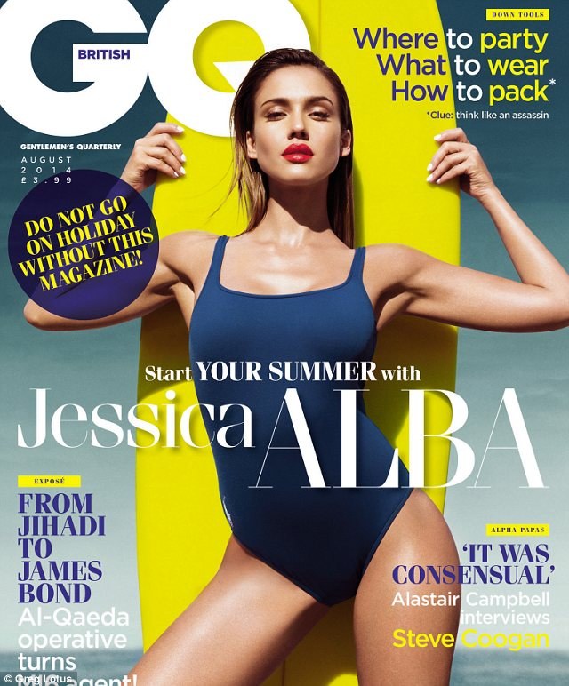 Jessica Alba- GQ, August