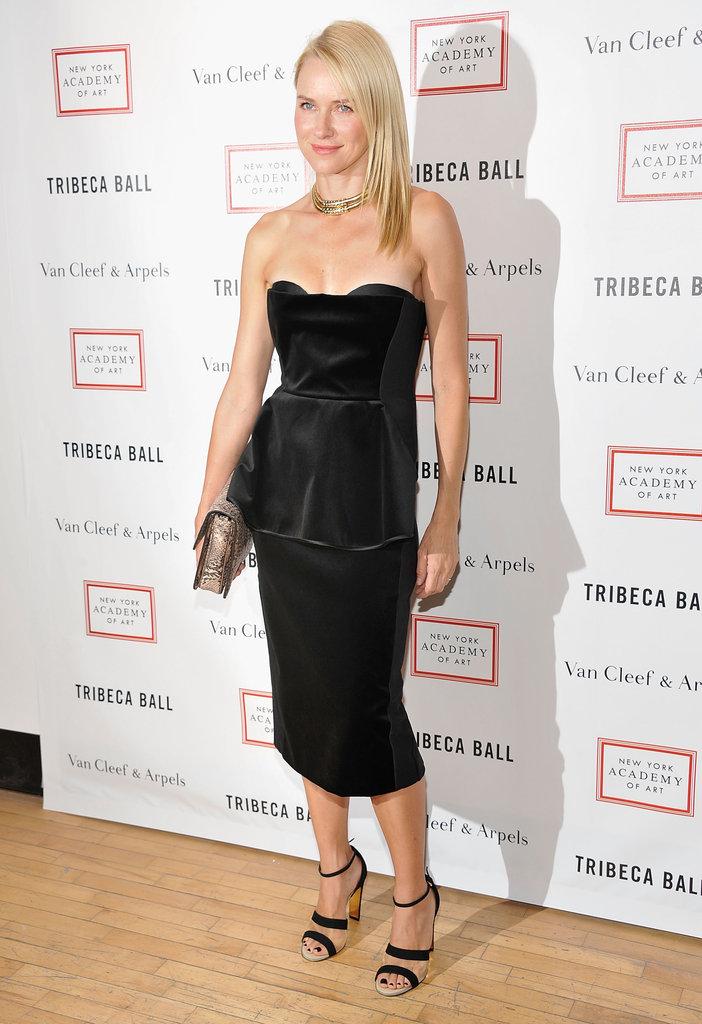 Naomi-Watts-wore-black-Stella-McCartney-dress-Tribeca-Ball