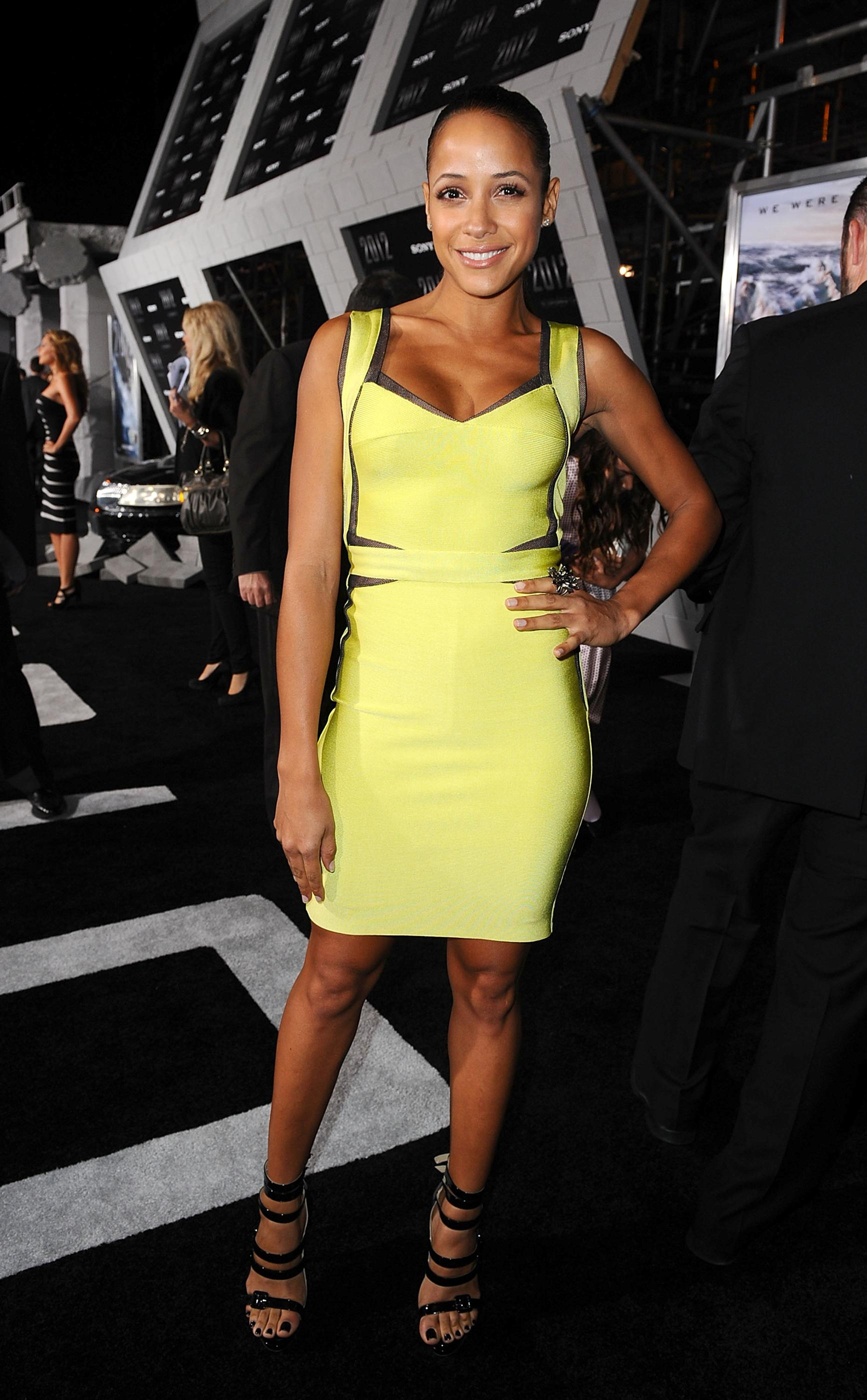 Dania-Ramirez-In-Herve-Leger-Dress