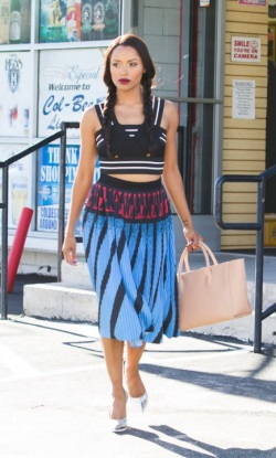 Kat-Grahams-LA-Alexander-Wang-Blue-and-Red-Pleated-Skirt-422x700