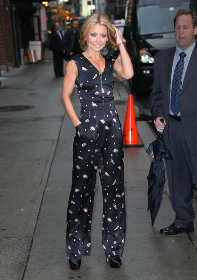 Kelly Ripa at the 'Late Show With David Letterman' in NYC