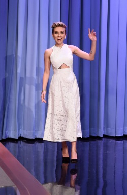 Scarlett Johansson Visits 'The Tonight Show Starring Jimmy Fallon' April 30-2015 059