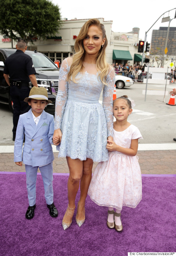 Maximilian David Muniz, Jennifer Lopez, Emme Maribel Muniz