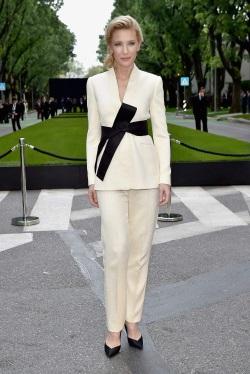 Cate Blanchett arriving for Giorgio Armani 40th Anniversary Silos Opening April 30-2015 004