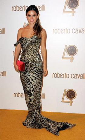 Rachel-Bilson-Roberto-Cavalli-Animal-Print-Dress
